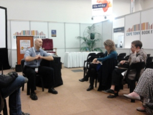 Talking at the Cape Town Book Fair